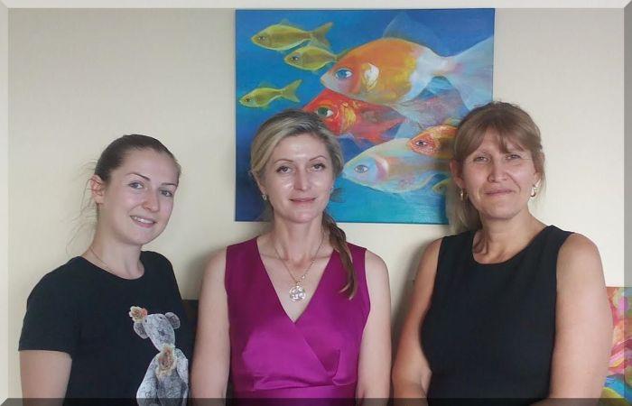 Отляво надясно: Стефани Драганова, Евгения Манолова, Мария Динчева